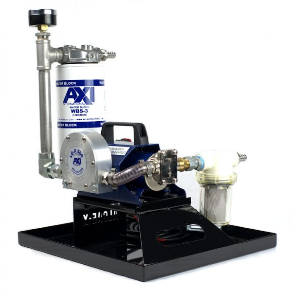TK-240 XT Portable Fuel Polishing System - Angle View with Fuel Conditioner and Primary Screen