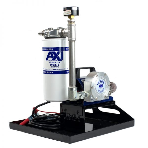TK-240 XT Portable Fuel Polishing System - Angle View with Fuel Conditioner and Secondary Filter