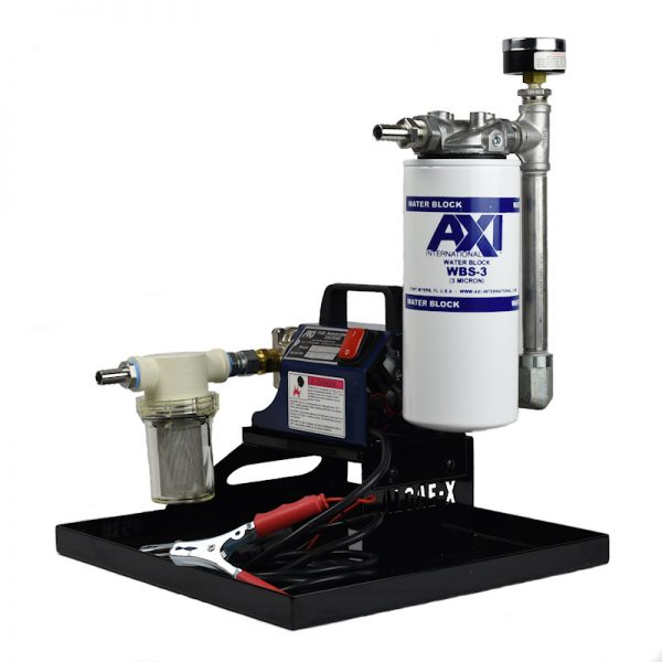 TK-240 XT Portable Fuel Polishing System - Angle View with 3-Micron Water Block Spin-On Filter