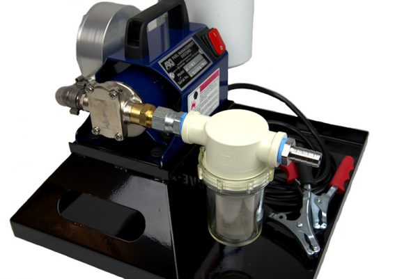 TK-240 XT Portable Fuel Polishing System - Angle View with Pump and Primary Filter Screen