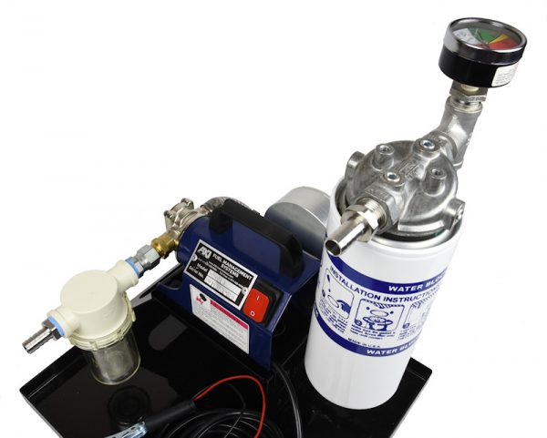 TK-240 XT Portable Fuel Polishing System - Top View with Secondary Water Block Filter