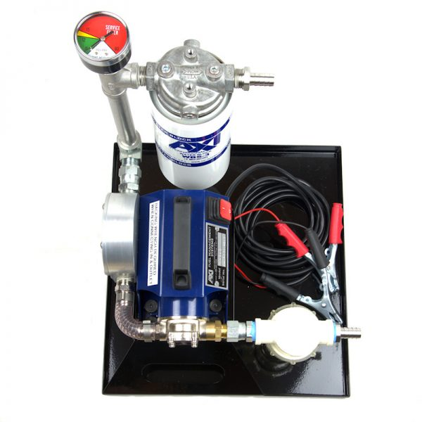 TK-240 XT Portable Fuel Polishing System - Top View showing Pressure Guage