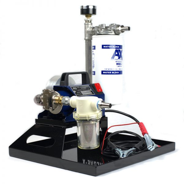 TK-240 XT Portable Fuel Polishing System - Angle View with Alligator Clamps